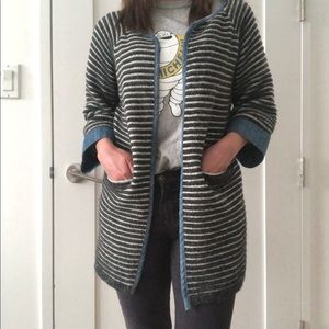 Knit Duster Coat Size S